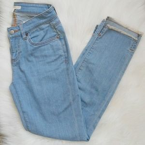 EILEEN FISHER Petite Step Ankle Hem Jeans Size 2P.